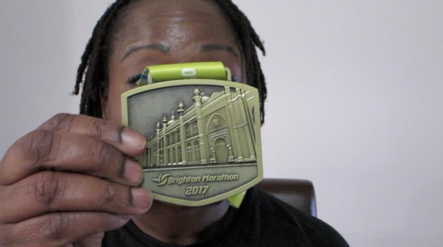 Brighton Marathon Medal - Thisrunnerlovespurple.co.uk