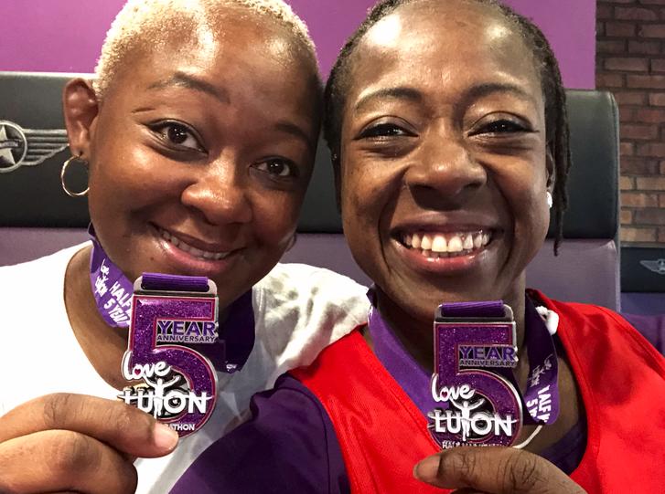 Love Luton Half Marathon 2017 - Tina and I