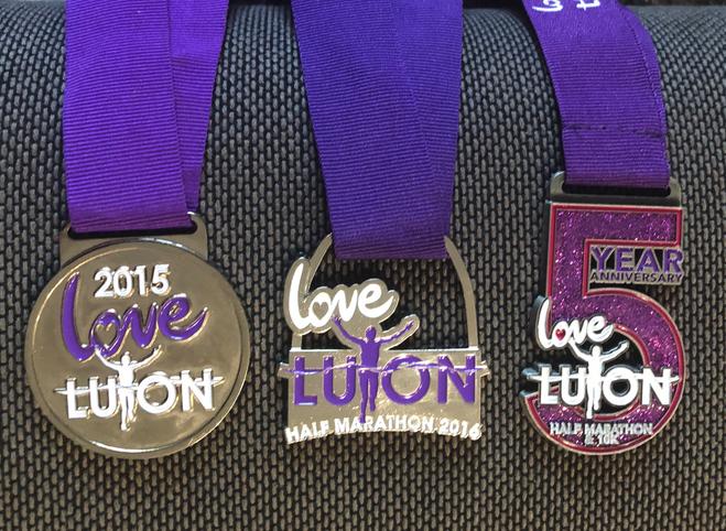 Love Luton Half Marathon 2017 - Medals